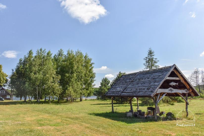 Lauku māja Sartu ezera krastā Zarasu rajonā Lapėnų Sodyba - brīvdienu mājas - 25