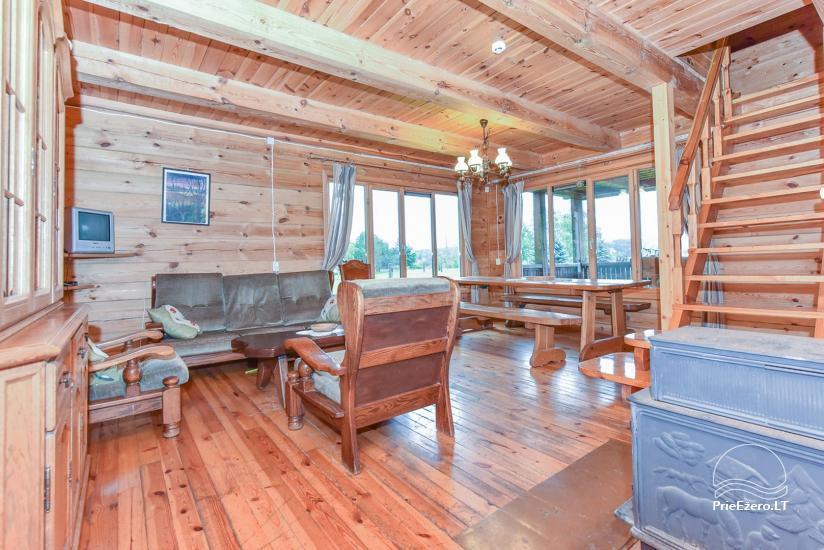 Lauku māja Sartu ezera krastā Zarasu rajonā Lapėnų Sodyba - brīvdienu mājas - 36