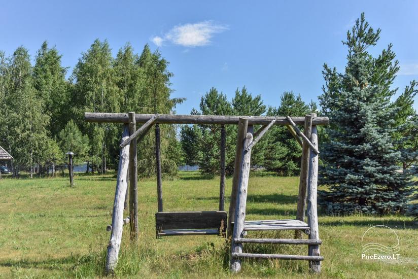 Lauku māja Sartu ezera krastā Zarasu rajonā Lapėnų Sodyba - brīvdienu mājas - 14
