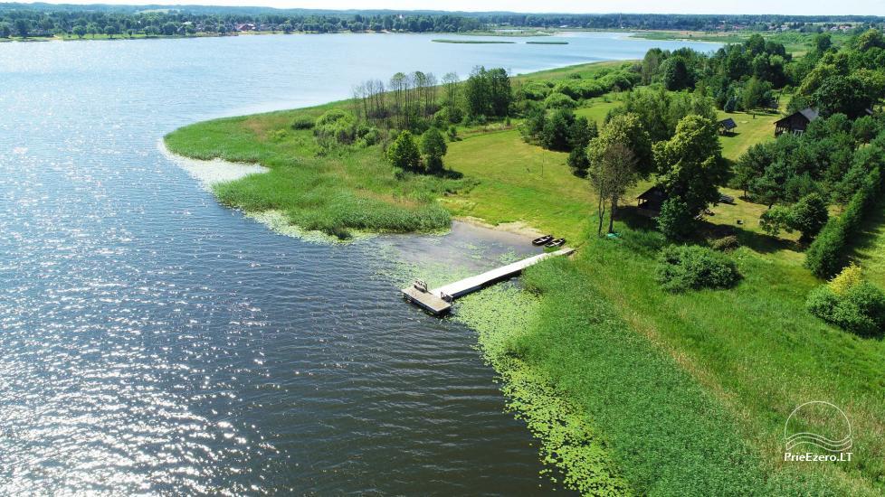Lauku māja Sartu ezera krastā Zarasu rajonā Lapėnų Sodyba - brīvdienu mājas - 9