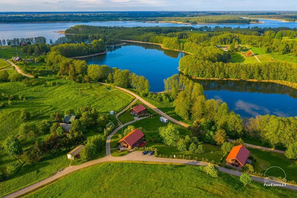 Mazie brīvdienu mājas īre pie Daugai ezera Lietuvā, Alytus r. - 2