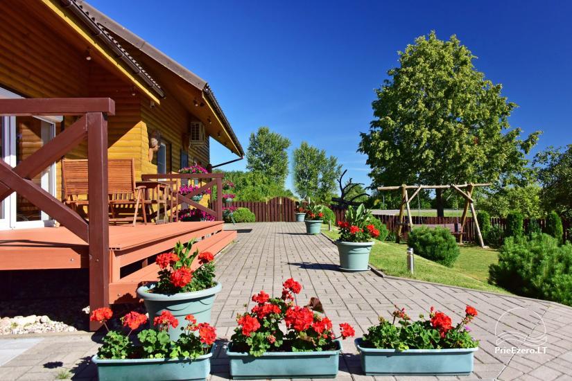 Viesu māja Trakai PANORAMA - numuri, apartamenti, pirts, pagalms ar skatu uz Traķu pili - 5