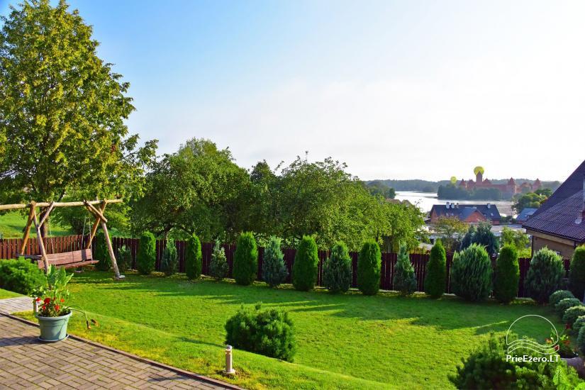 Viesu māja Trakai PANORAMA - numuri, apartamenti, pirts, pagalms ar skatu uz Traķu pili - 8
