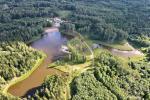 Zelta briežu ieleja ar pirti un kempings Utenas rajonā, Lietuvā