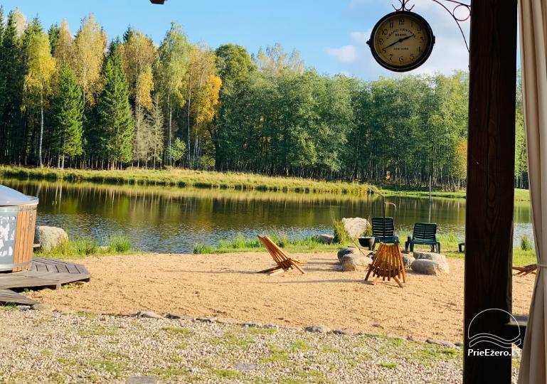 Zelta briežu ieleja ar pirti un kempings Utenas rajonā, Lietuvā - 17