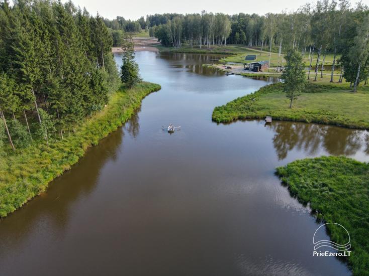 Zelta briežu ieleja ar pirti un kempings Utenas rajonā, Lietuvā - 13