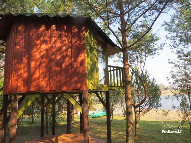 Brīvdienu mājiņas, pirts, baļļa, kajaki, kas sētā pie ezera Dviragis - 32