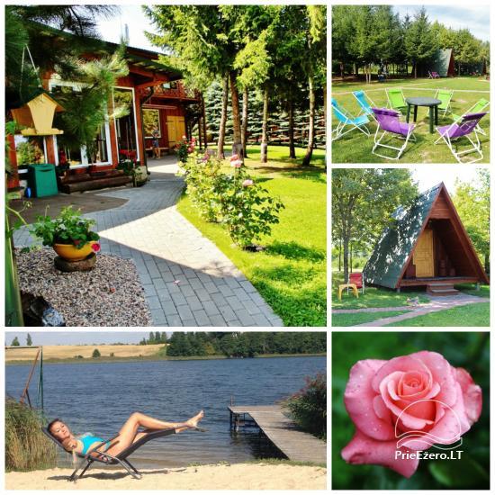Brīvdienu mājiņas, pirts, baļļa, kajaki, kas sētā pie ezera Dviragis - 1