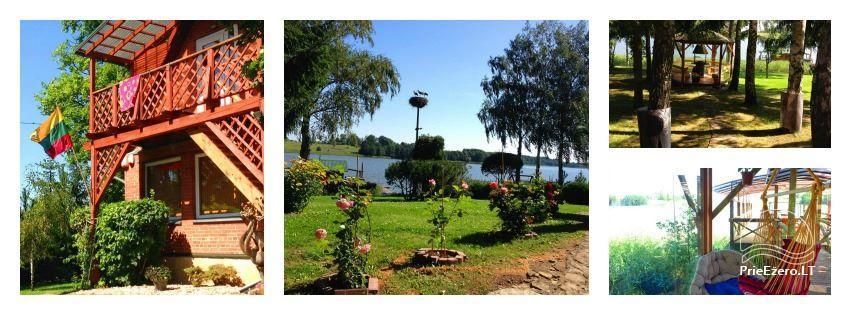 Brīvdienu mājiņas, pirts, baļļa, kajaki, kas sētā pie ezera Dviragis - 2