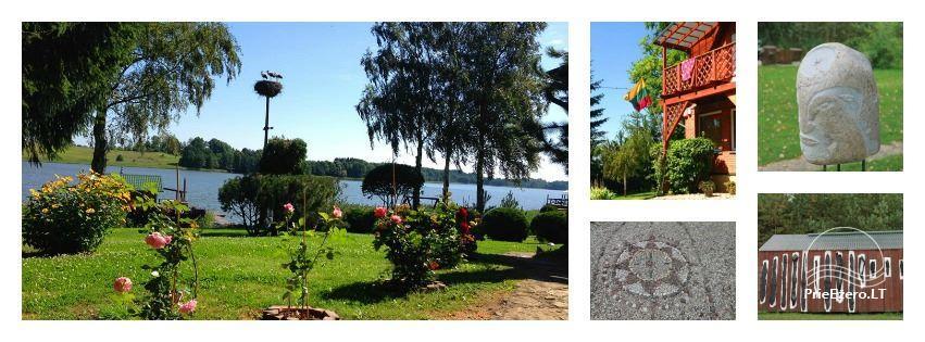 Brīvdienu mājiņas, pirts, baļļa, kajaki, kas sētā pie ezera Dviragis - 3