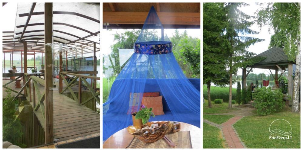 Brīvdienu mājiņas, pirts, baļļa, kajaki, kas sētā pie ezera Dviragis - 4
