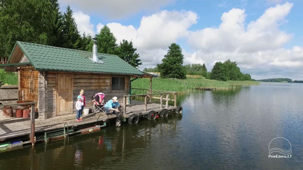 Brīvdienu mājiņas, pirts, baļļa, kajaki, kas sētā pie ezera Dviragis - 35