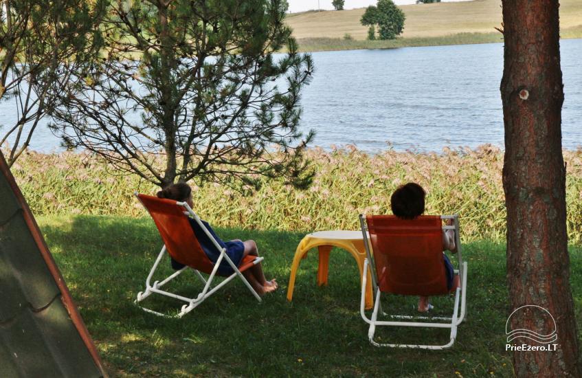 Brīvdienu mājiņas, pirts, baļļa, kajaki, kas sētā pie ezera Dviragis - 37