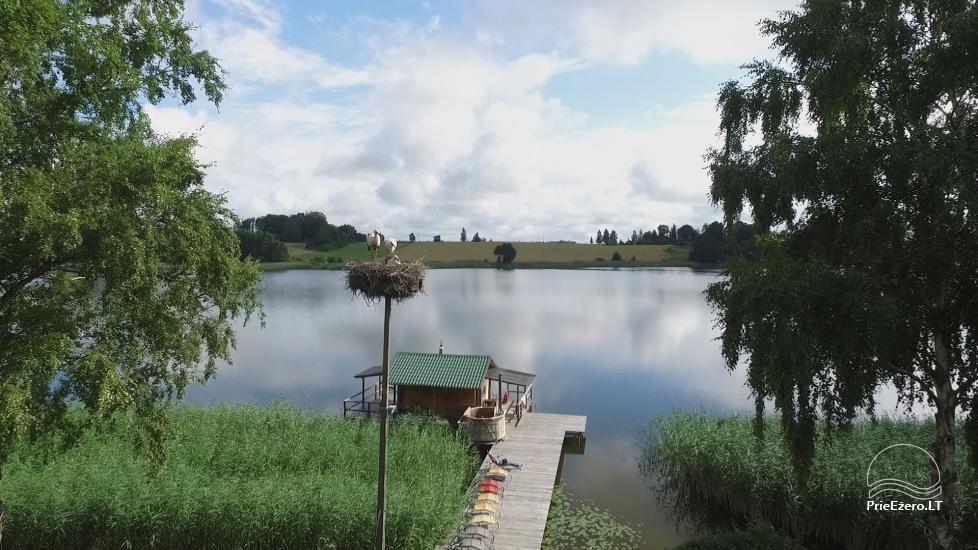 Brīvdienu mājiņas, pirts, baļļa, kajaki, kas sētā pie ezera Dviragis - 39