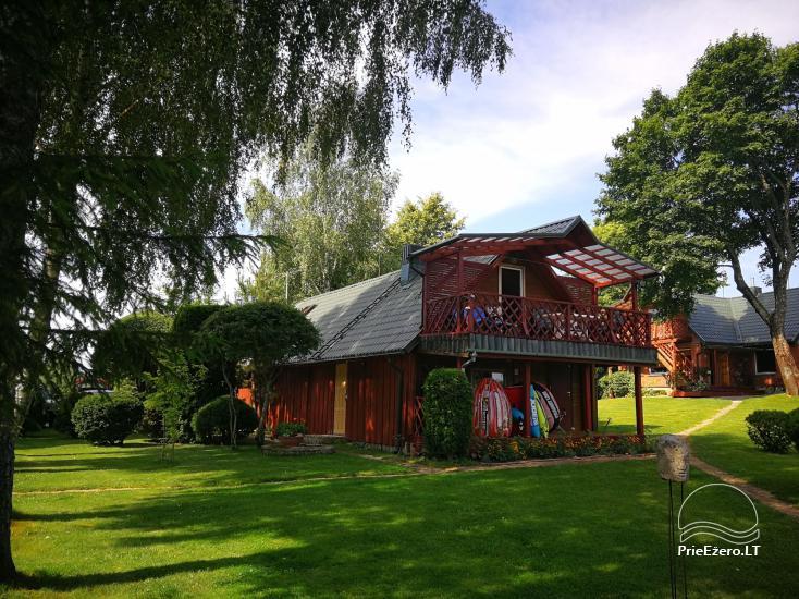 Brīvdienu mājiņas, pirts, baļļa, kajaki, kas sētā pie ezera Dviragis - 43