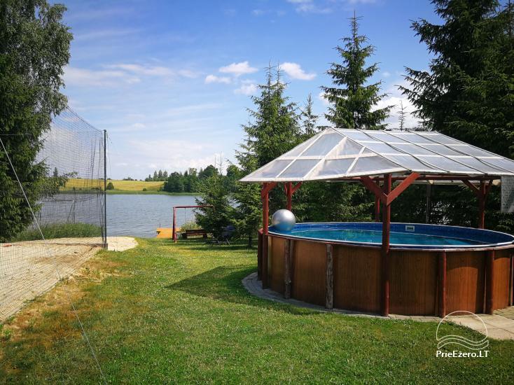 Brīvdienu mājiņas, pirts, baļļa, kajaki, kas sētā pie ezera Dviragis - 48