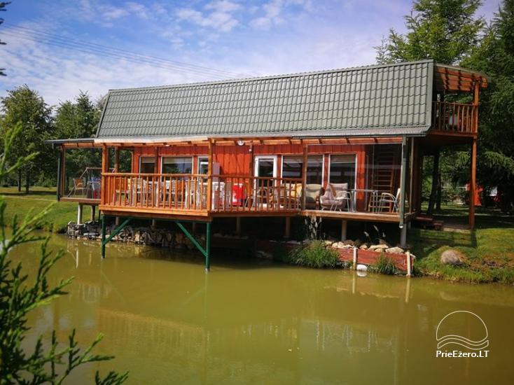 Brīvdienu mājiņas, pirts, baļļa, kajaki, kas sētā pie ezera Dviragis - 50