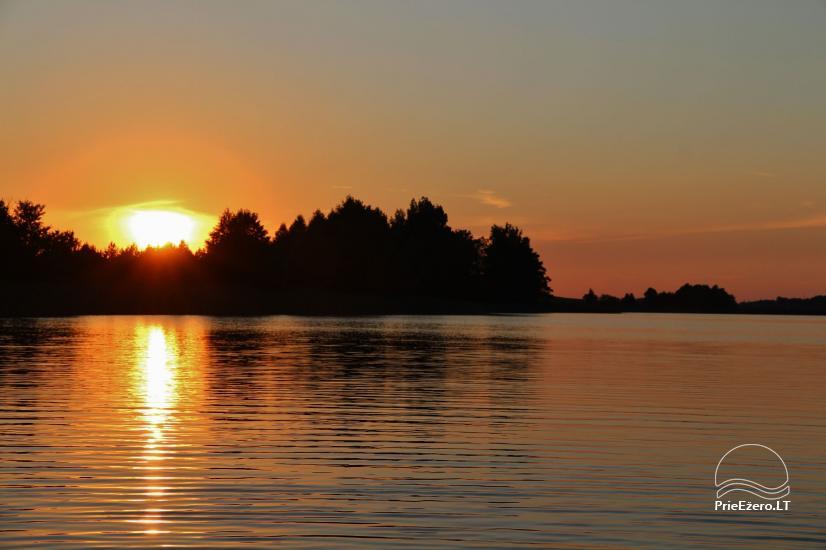 Brīvdienu mājiņas, pirts, baļļa, kajaki, kas sētā pie ezera Dviragis - 53