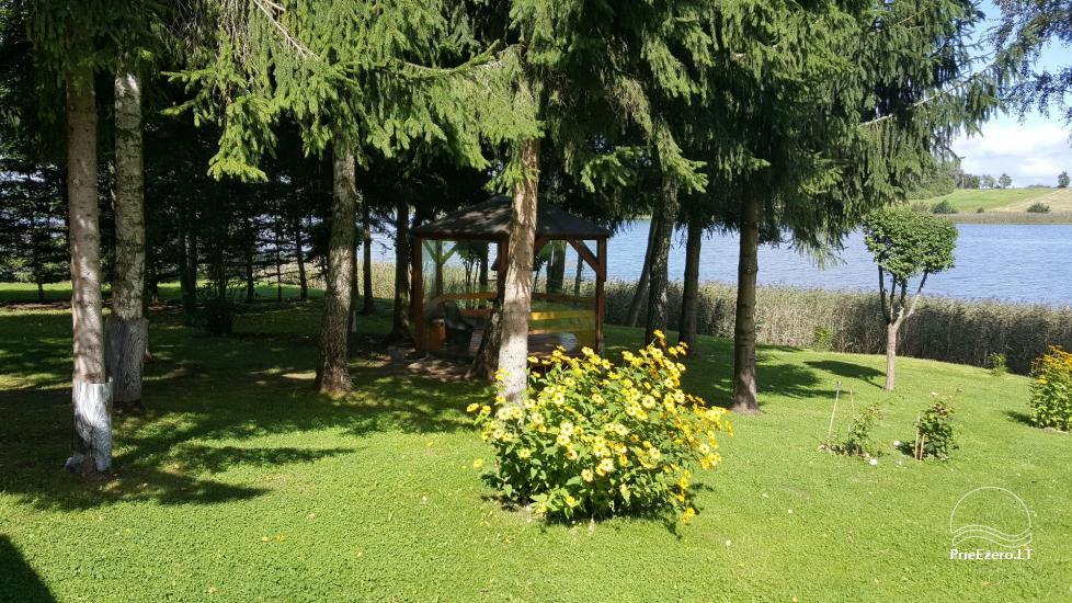 Brīvdienu mājiņas, pirts, baļļa, kajaki, kas sētā pie ezera Dviragis - 55
