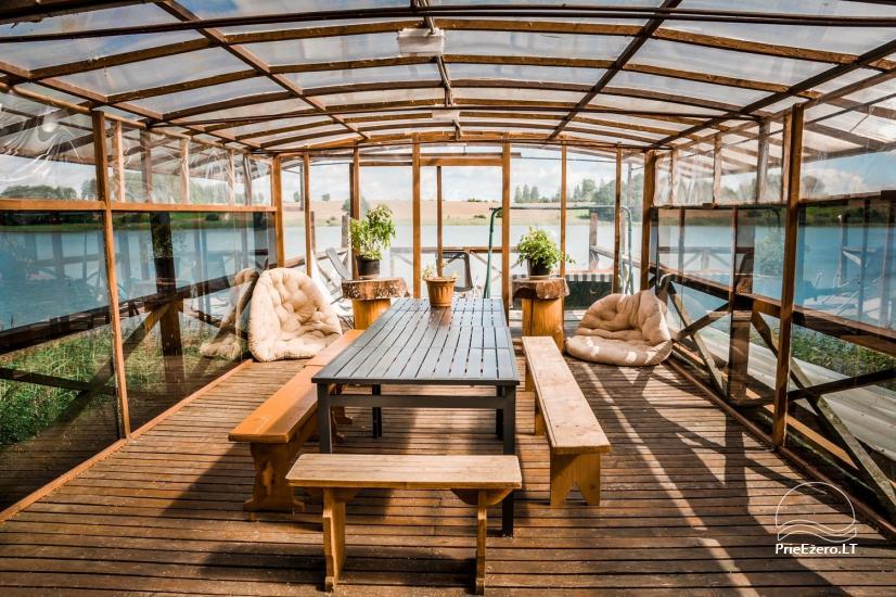 Brīvdienu mājiņas, pirts, baļļa, kajaki, kas sētā pie ezera Dviragis - 56