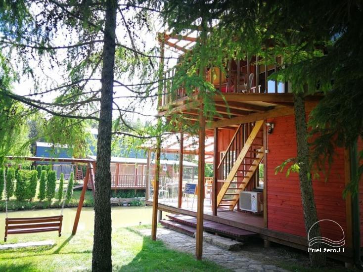 Brīvdienu mājiņas, pirts, baļļa, kajaki, kas sētā pie ezera Dviragis - 64