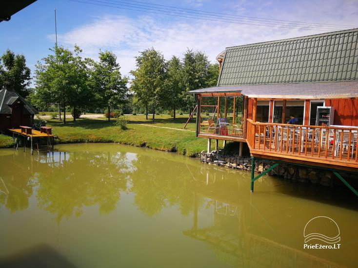 Brīvdienu mājiņas, pirts, baļļa, kajaki, kas sētā pie ezera Dviragis - 65