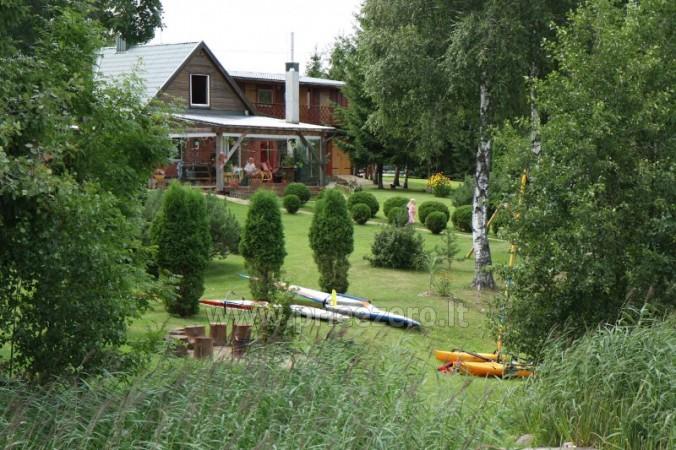 Brīvdienu mājiņas, pirts, baļļa, kajaki, kas sētā pie ezera Dviragis - 6