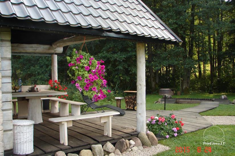 Baltā pagalms pie ezera un strauta Lietuvā - 7