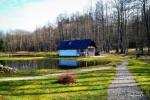 Baltā pagalms pie ezera un strauta Lietuvā - 3