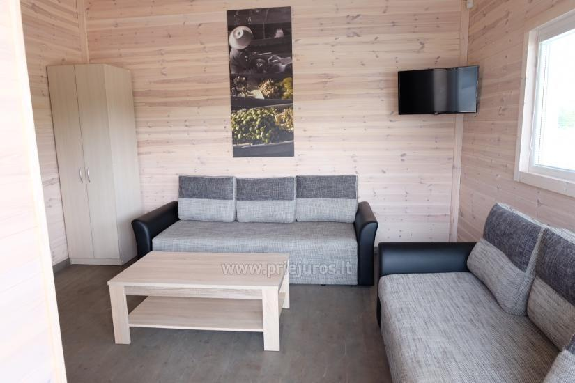 Jaunas vienu i divu istabu koka mājas Sventoji - 3