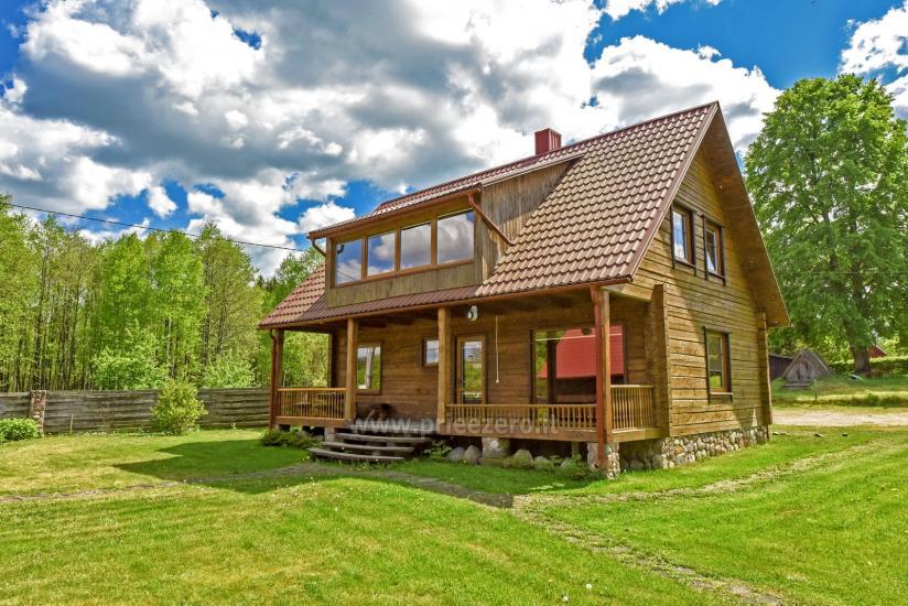 Lauku māja rajona Trakai pie ezera Baluosys - 9