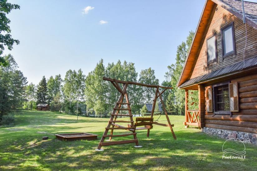 Guļbūve - villa un sauna pie Auslo ezera Zarasu rajonā - sēta AUSLA - 8