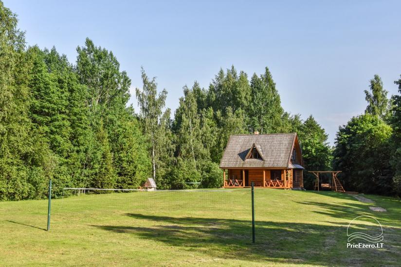 Guļbūve - villa un sauna pie Auslo ezera Zarasu rajonā - sēta AUSLA - 7
