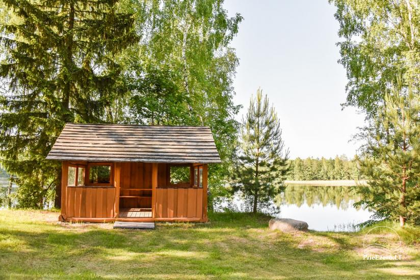 Guļbūve - villa un sauna pie Auslo ezera Zarasu rajonā - sēta AUSLA - 16
