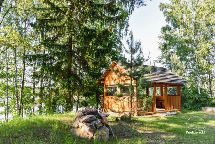 Guļbūve - villa un sauna pie Auslo ezera Zarasu rajonā - sēta AUSLA - 17