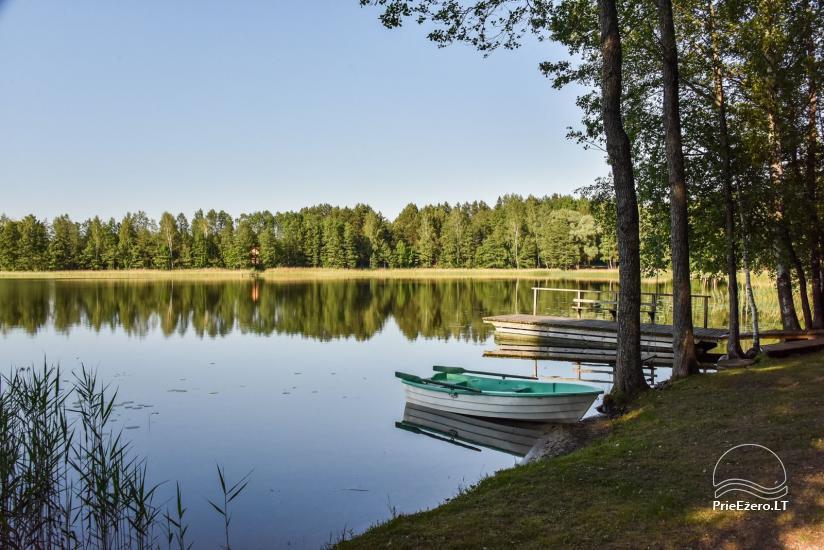 Guļbūve - villa un sauna pie Auslo ezera Zarasu rajonā - sēta AUSLA - 18