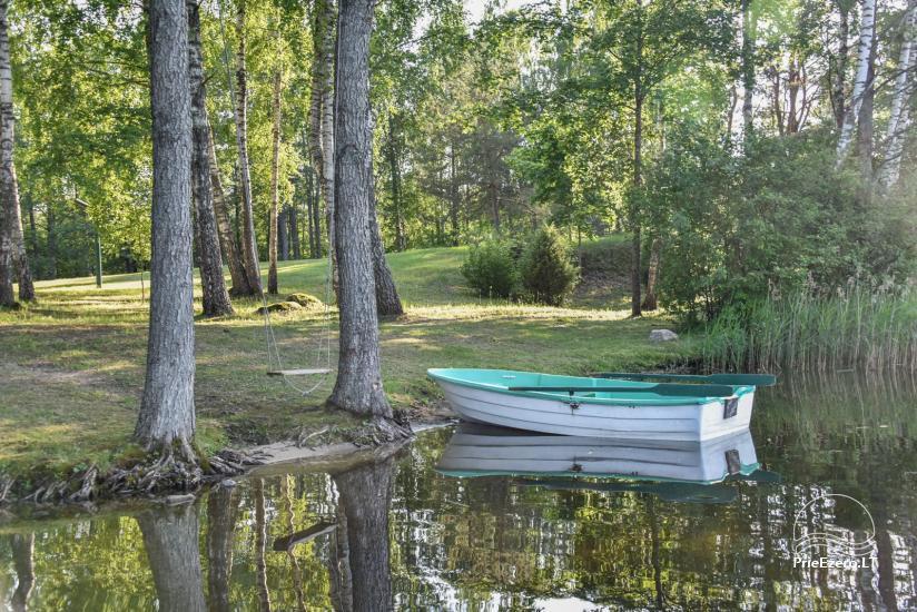 Guļbūve - villa un sauna pie Auslo ezera Zarasu rajonā - sēta AUSLA - 19