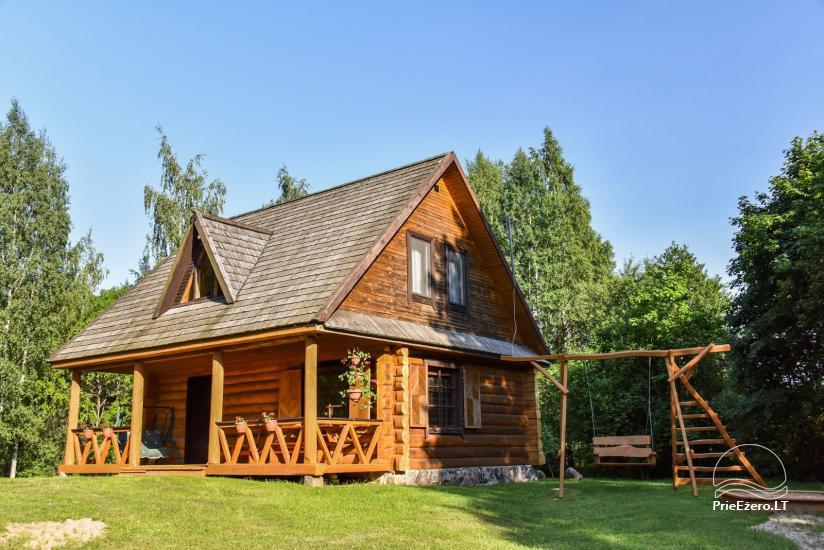 Guļbūve - villa un sauna pie Auslo ezera Zarasu rajonā - sēta AUSLA - 4