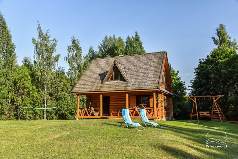 Guļbūve - villa un sauna pie Auslo ezera Zarasu rajonā - sēta AUSLA - 1
