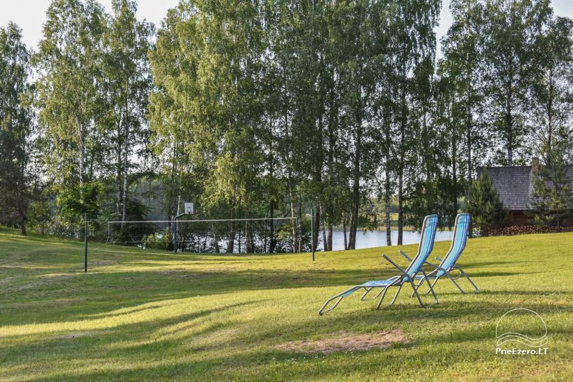 Guļbūve - villa un sauna pie Auslo ezera Zarasu rajonā - sēta AUSLA - 10