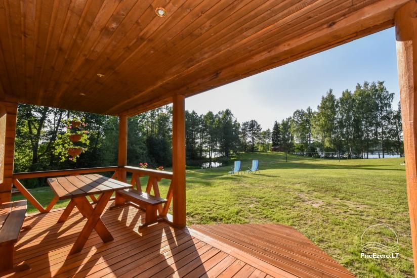 Guļbūve - villa un sauna pie Auslo ezera Zarasu rajonā - sēta AUSLA - 23