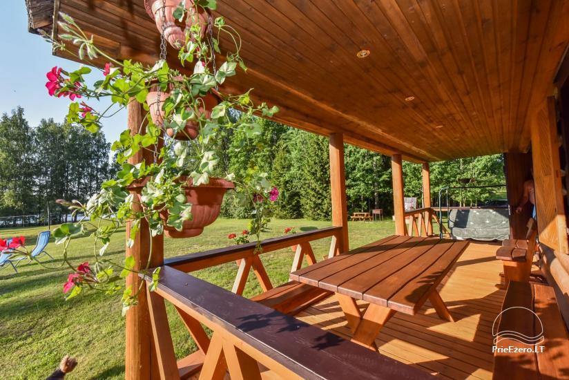 Guļbūve - villa un sauna pie Auslo ezera Zarasu rajonā - sēta AUSLA - 22