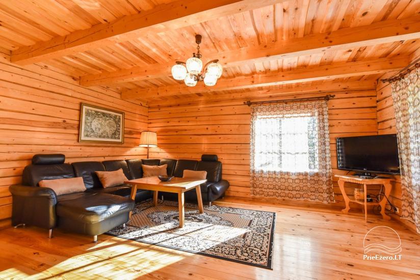 Guļbūve - villa un sauna pie Auslo ezera Zarasu rajonā - sēta AUSLA - 25