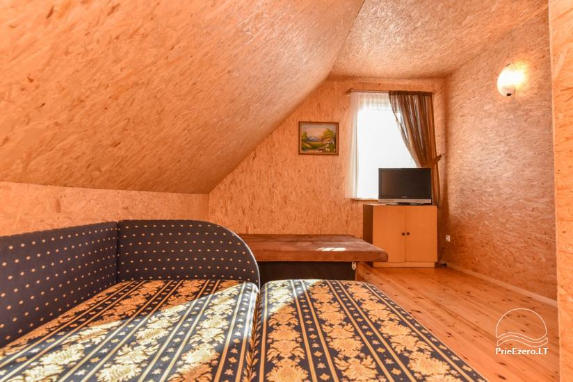 Guļbūve - villa un sauna pie Auslo ezera Zarasu rajonā - sēta AUSLA - 33