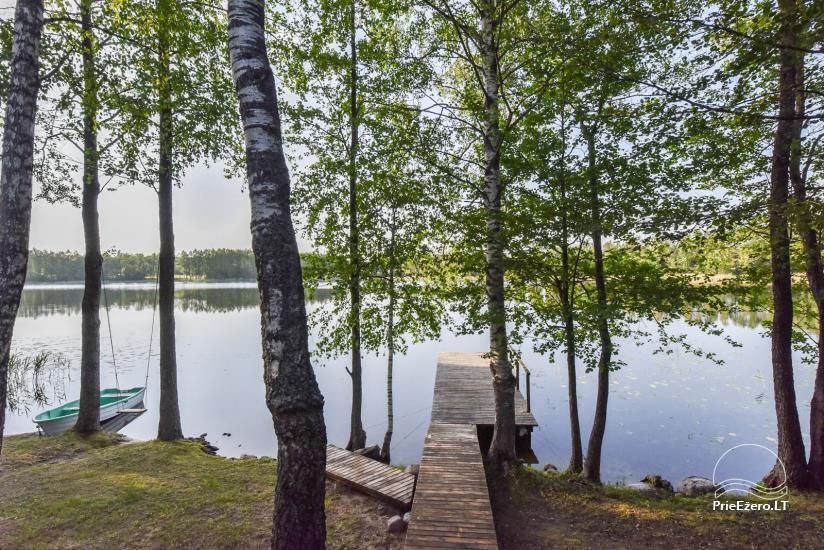 Guļbūve - villa un sauna pie Auslo ezera Zarasu rajonā - sēta AUSLA - 41