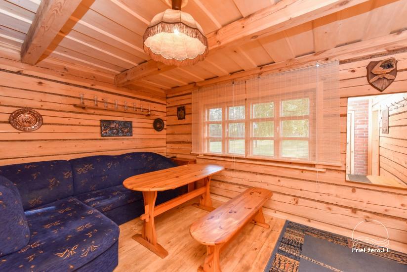 Guļbūve - villa un sauna pie Auslo ezera Zarasu rajonā - sēta AUSLA - 46