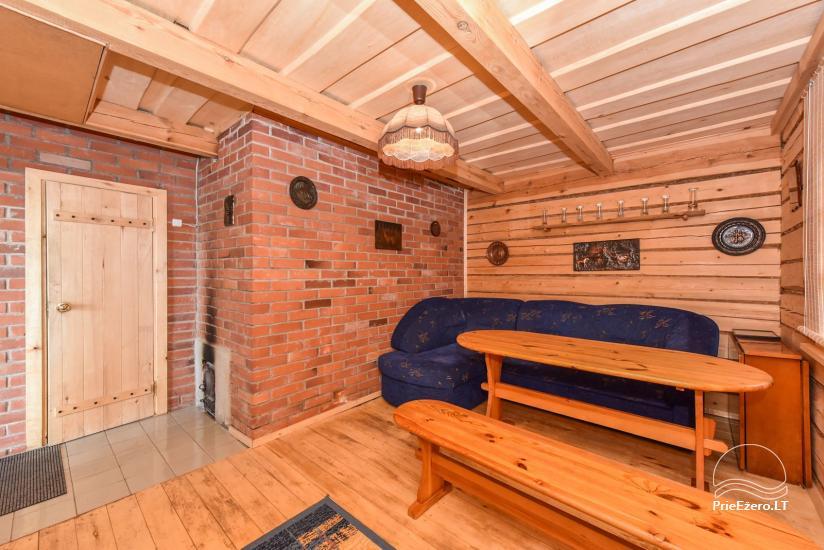 Guļbūve - villa un sauna pie Auslo ezera Zarasu rajonā - sēta AUSLA - 47