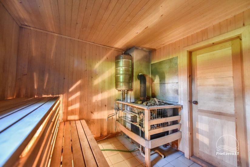 Guļbūve - villa un sauna pie Auslo ezera Zarasu rajonā - sēta AUSLA - 48