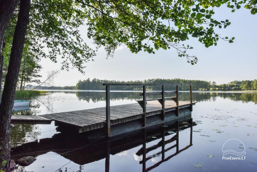 Guļbūve - villa un sauna pie Auslo ezera Zarasu rajonā - sēta AUSLA - 51