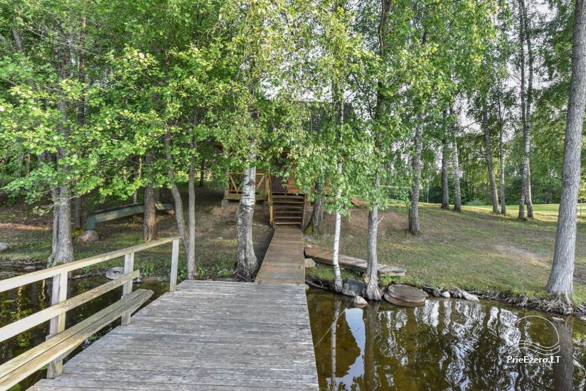 Guļbūve - villa un sauna pie Auslo ezera Zarasu rajonā - sēta AUSLA - 45